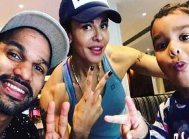 Opener Shikhar Dhawan's wife and son fight, said to fans ..