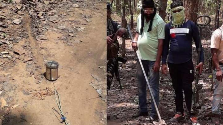 CRPF jawans went out in search, 3 kg IED bomb found buried in the ground