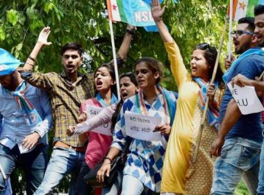 NSUI and ABVP face to face on general promotion of college students
