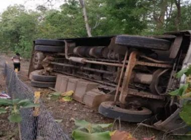 Bus full of laborers overturned in Mahasamund, 29 people injured, no death