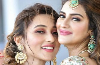 Nusrat Jahan and Mimi Chakraborty,
