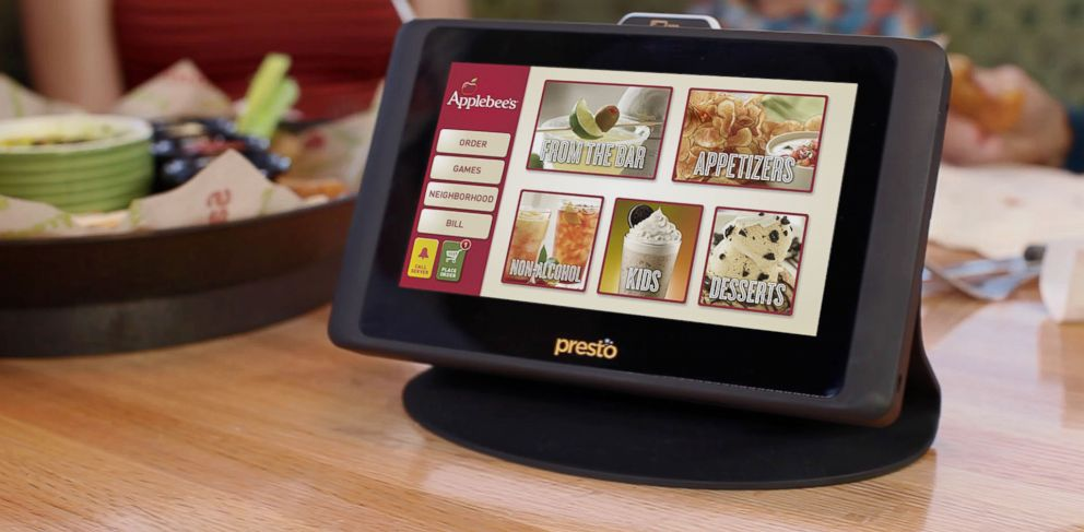 If you go to the restaurant, remember that now the waiter will not come to order, you will get a special machine